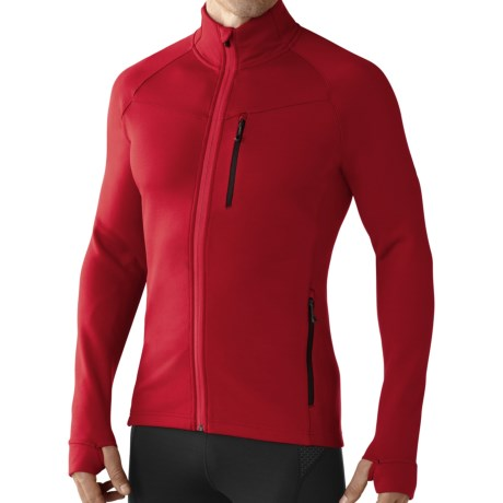 SmartWool PhD HyFi Base Layer Top - Merino Wool, Full Zip, Long Sleeve (For Men) in Bright Red