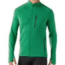 SmartWool PhD HyFi Base Layer Top - Merino Wool, Full Zip, Long Sleeve (For Men) in Clover - Closeouts