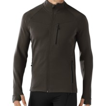 SmartWool PhD HyFi Base Layer Top - Merino Wool, Full Zip, Long Sleeve (For Men) in Graphite - Closeouts
