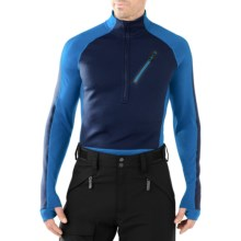 SmartWool PHD HyFi Divide Midlayer Top - Merino Wool, Zip Neck, Long Sleeve (For Men) in Arctic Blue - Closeouts