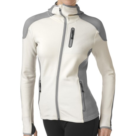 SmartWool PhD HyFi Hoodie Sweatshirt - Merino Wool, Full Zip (For Women) in Natural