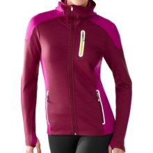SmartWool PhD HyFi Hoodie Sweatshirt - Merino Wool, Full Zip (For Women) in Wine - Closeouts