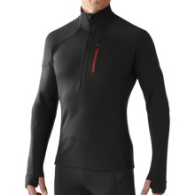 SmartWool PHD HyFi Midlayer Top - Merino Wool, Zip Neck, Long Sleeve (For Men) in Black - Closeouts