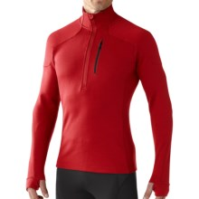 SmartWool PHD HyFi Midlayer Top - Merino Wool, Zip Neck, Long Sleeve (For Men) in Bright Red - Closeouts