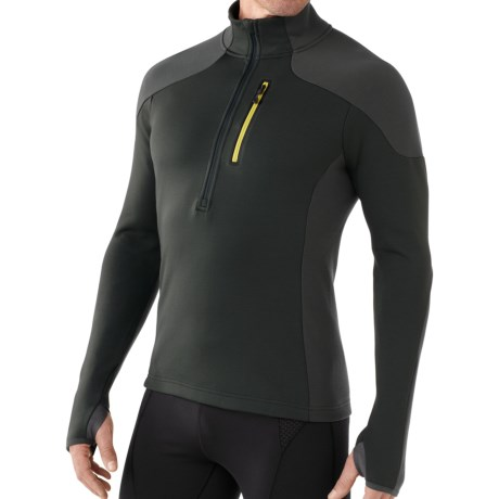SmartWool PHD HyFi Midlayer Top - Merino Wool, Zip Neck, Long Sleeve (For Men) in Black