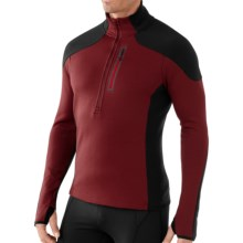SmartWool PHD HyFi Midlayer Top - Merino Wool, Zip Neck, Long Sleeve (For Men) in Mahogany - Closeouts
