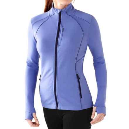 SmartWool PhD HyFi Shirt - Merino Wool, Full Zip, Long Sleeve (For Women) in Polar Purple - Closeouts