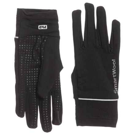 SmartWool PhD HyFi Training Gloves (For Women) in Black - Overstock