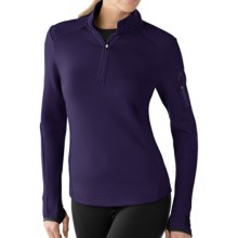 SmartWool PhD HyFi Zip Neck Base Layer Top - Merino Wool, Midweight, Long Sleeve (For Women) in Imperial Purple - Closeouts