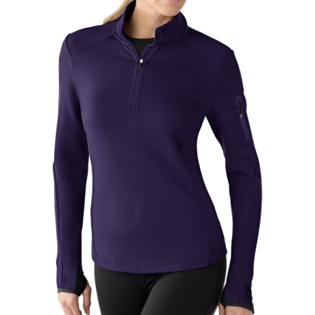 SmartWool PhD HyFi Zip Neck Base Layer Top - Merino Wool, Midweight, Long Sleeve (For Women) in Imperial Purple