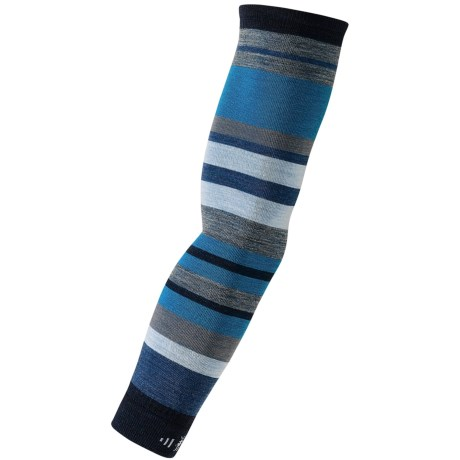 SmartWool PhD Knit Arm Warmers - Merino Wool, Pair (For Men and Women) in Deep Navy