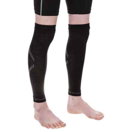 SmartWool PhD Knit Bike Knee Warmers - Merino Wool (For Men and Women) in Black - 2nds