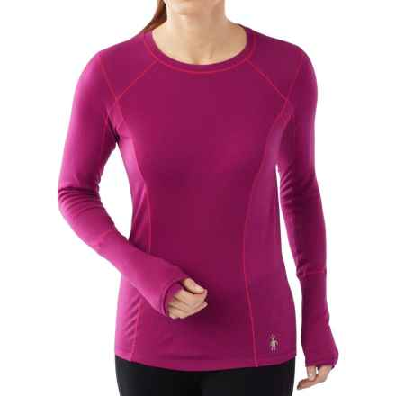 SmartWool PhD Light Base Layer Top - Merino Wool, Long Sleeve (For Women) in Berry - Closeouts
