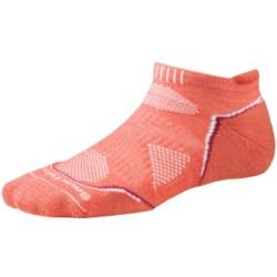 SmartWool PhD Light Micro Running Socks (For Women) in Poppy