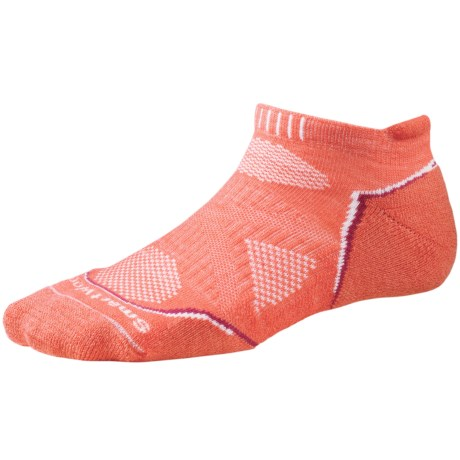 SmartWool PhD Light Micro Running Socks (For Women) in Poppy