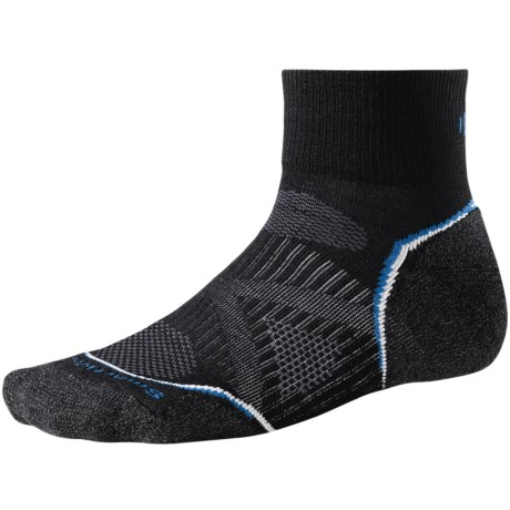 SmartWool PhD Light Mini Running Socks - Merino Wool (For Men and Women) in Black