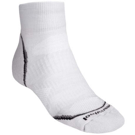 SmartWool PhD Light Mini Running Socks - Merino Wool (For Men and Women) in Silver/Black