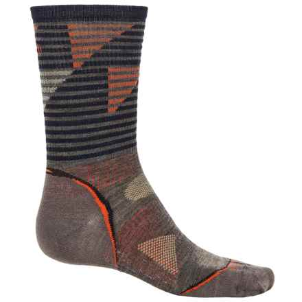 SmartWool PhD Light Outdoor Pattern Socks - Merino Wool, Crew (For Men and Women) in Taupe - 2nds