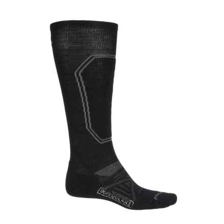 SmartWool PhD Light Ski Socks - Merino Wool, Over the Calf (For Men) in Black - 2nds