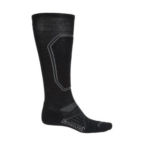 SmartWool PhD Light Ski Socks - Merino Wool, Over the Calf (For Men) in Black