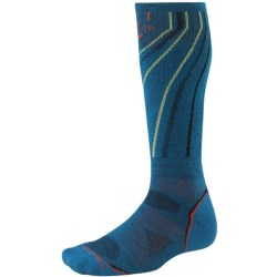 SmartWool PhD Light Snowboard Socks - Merino Wool (For Men and Women) in Black/Orange