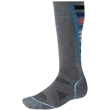 SmartWool PhD Light Snowboard Socks - Merino Wool (For Men and Women) in Black