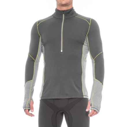 SmartWool PhD Light Zip Neck Shirt - Long Sleeve (For Men) in Graphite - Closeouts