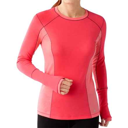 SmartWool PhD Lightweight Shirt - Merino Wool, Long Sleeve (For Women) in Hibiscus - Closeouts