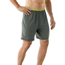 SmartWool PhD Long Run Shorts - Merino Wool, Built-In Brief (For Men) in Graphite - Closeouts