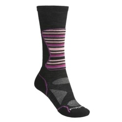 SmartWool PhD Mid Cushion Ski Socks - Lightweight, Merino Wool (For Women) in Black/Multi