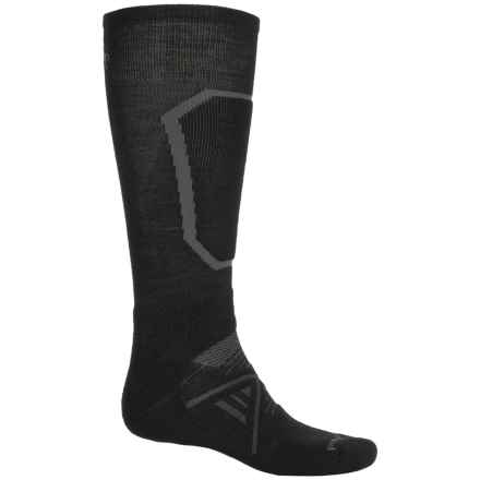 SmartWool PhD Midweight Ski Socks - Merino Wool, Over the Calf (For Men) in Black - 2nds