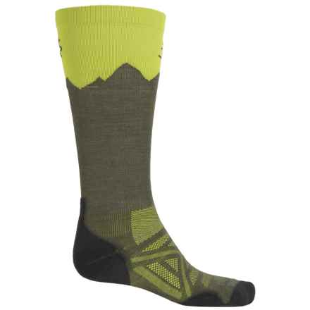 SmartWool PhD Mountain Ski Socks - Merino Wool, Over the Calf (For Men and Women) in Loden - 2nds