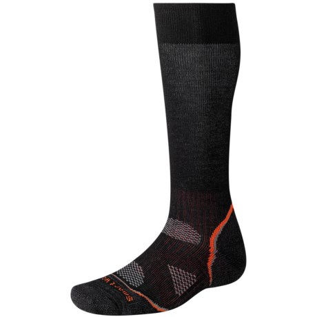 SmartWool PhD Mountaineer Socks - Merino Wool, Over-the-Calf (For Men and Women) in Black