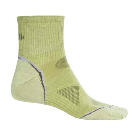 SmartWool PhD Multisport Mini Socks - Merino Wool, 1/4 Crew (For Women) in Citron - Closeouts