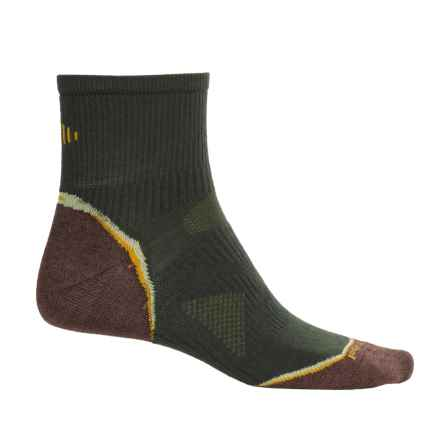 SmartWool PhD Multisport Mini Socks - Merino Wool, 1/4 Crew (For Women) in Forest - Closeouts