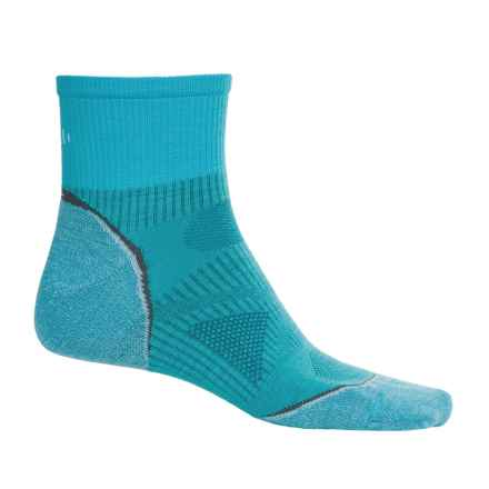 SmartWool PhD Multisport Mini Socks - Merino Wool, 1/4 Crew (For Women) in Horizon Blue - Closeouts