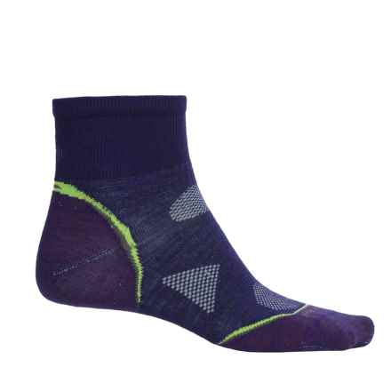 SmartWool PhD Multisport Mini Socks - Merino Wool, 1/4 Crew (For Women) in Imperial Purple - Closeouts