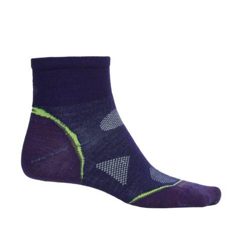 SmartWool PhD Multisport Mini Socks - Merino Wool, 1/4 Crew (For Women)