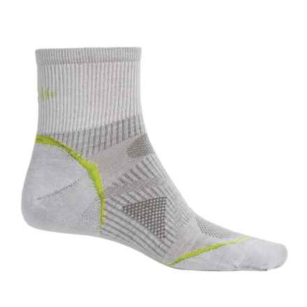 SmartWool PhD Multisport Mini Socks - Merino Wool, 1/4 Crew (For Women) in Silver - Closeouts