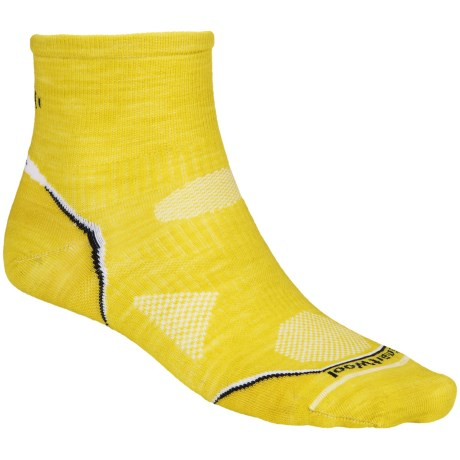 SmartWool PhD Multisport Mini Socks - Merino Wool (For Men) in Glowgreen