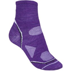 SmartWool PhD Multisport Mini Socks - Merino Wool, Lightweight (For Women) in Grape