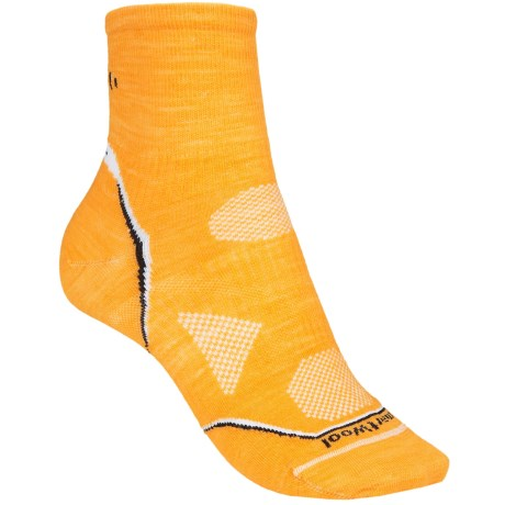 SmartWool PhD Multisport Mini Socks - Merino Wool, Lightweight (For Women) in Tangerine