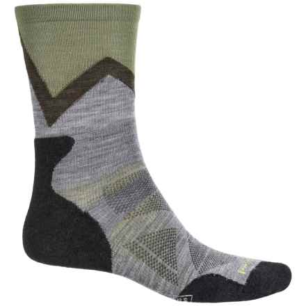 SmartWool PhD Outdoor Approach Socks- Merino Wool, Crew (For Men) in Medium Gray - 2nds