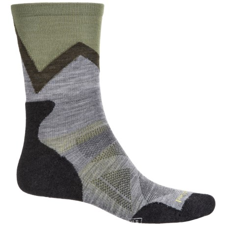 SmartWool PhD Outdoor Approach Socks- Merino Wool, Crew (For Men) in Medium Gray
