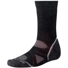 SmartWool PhD Outdoor Heavy Socks - Merino Wool, Crew (For Men and Women) in Black - 2nds