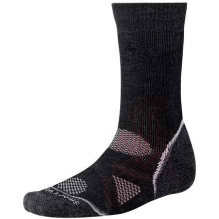 SmartWool PhD Outdoor Heavy Socks - Merino Wool, Crew (For Men and Women) in Black - 2nds