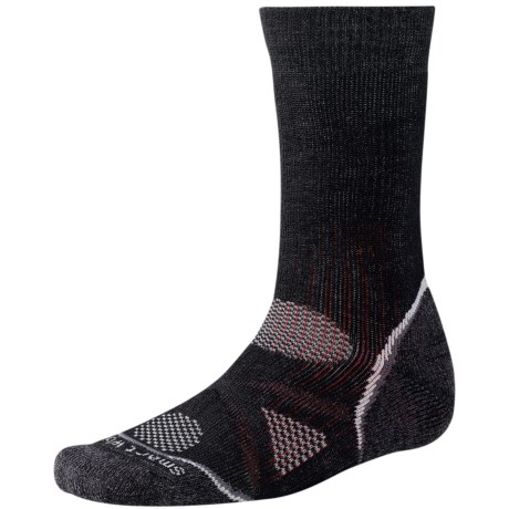 SmartWool PhD Outdoor Heavy Socks - Merino Wool, Crew (For Men and Women) in Black
