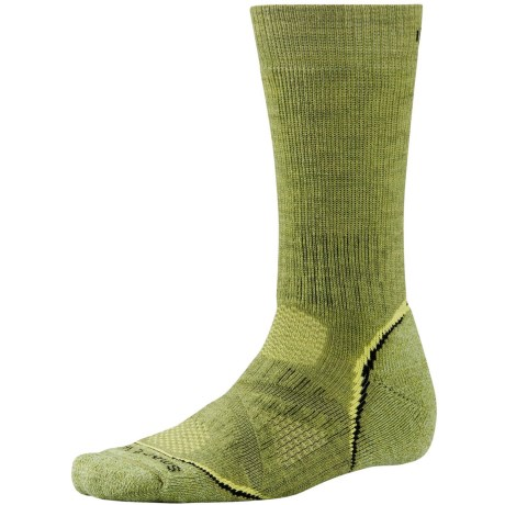 SmartWool PhD Outdoor Heavy Socks - Merino Wool, Crew (For Men and Women) in Pesto
