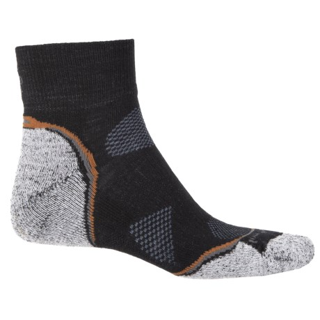SmartWool PhD Outdoor Light Hiking Socks - Merino Wool, Ankle (For Men and Women) in Black/Graphite