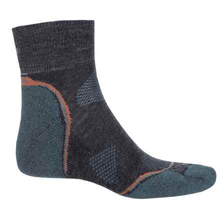 SmartWool PhD Outdoor Light Hiking Socks - Merino Wool, Ankle (For Men and Women) in Graphite/Orange - Closeouts
